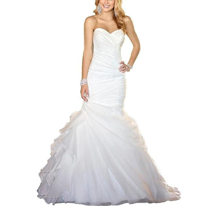 SSLW boda dama Eugen hilo sexy delgado pez cola cinturón novia blanco: Amazon.es: Ropa y accesorios