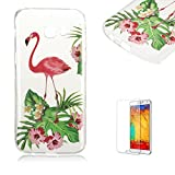 For Samsung Galaxy A5 (2017 Model)Case [with Free Screen Protector], Funyye Fashion lovely Lightweight Ultra Slim Anti Scratch Transparent Soft Gel Silicone TPU Bumper Protective Case Cover Shell for Samsung Galaxy A5 (2017 Model)-Crane