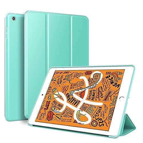 KenKe iPad Mini 5 Case,Ultra Slim Lightweight Smart Case TPU Soft Silicone Stand with Auto Sleep/Wake for iPad Cover 7.9 inch iPad Mini 5th Generation-Mint Green