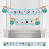 Let's Be Mermaids - Baby Shower Bunting Banner - Mermaid Party Decorations - Welcome Baby