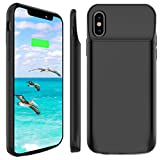 valve cover phone case - iPhone X Battery Case, Stoon 6000mAh Portable Charger Case Rechargeable Extended Battery Pack Protective Backup Charging Case Cover for Apple iPhone X, iPhone 10 (5.8 Inch) (Black)