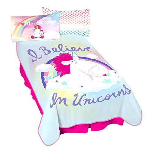 Universal Fluffy I Believe in Unicorns Microraschel Blanket