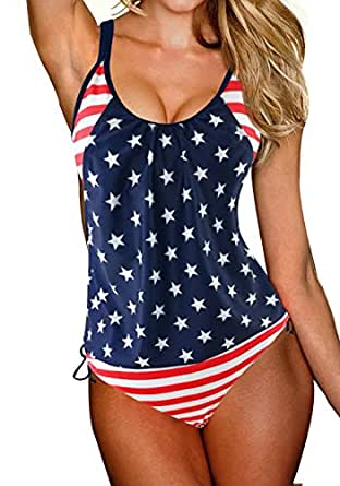 GET N SWIM Tankini swimsuits for women Stars and Stripes Small