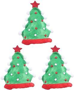 Amosfun 3 piezas sombrero de árbol de navidad fieltro gorro de ...