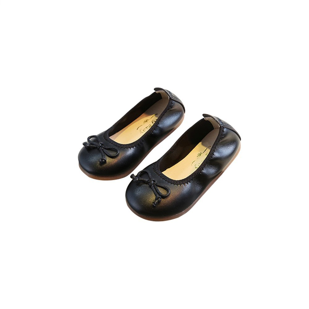 satisfied Girls Foldable Bowknot Slip On Ballet Flats Dress Shoes
