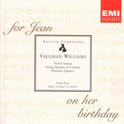 Vaughan Williams:  String Quartet No. 2 in A Minor (For Jean on her Birthday)/Violin Sonata in A Minor/Phantasy Quintet/Six Studies in English Folk-Song (Vaughan Williams Folk Song)