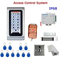 MOUNTAINONE Door Access Control System Controller Waterproof IP68 Metal Case RFID Reader Keypad Remote Control Magnetic Lock
