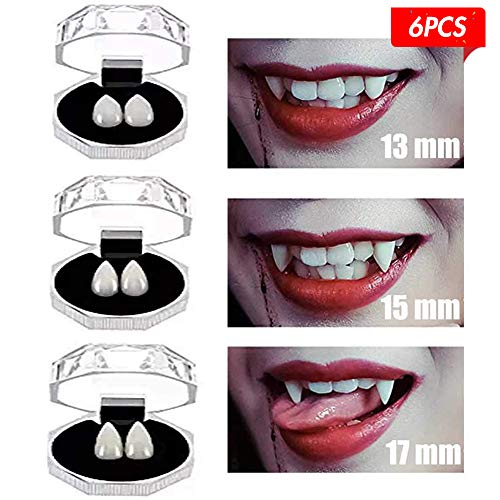 Vampire Teeth Caps (Johouse Vampire Tooth, 6 PCS Fake Teeth False Teeth Party Cosplay Prop)