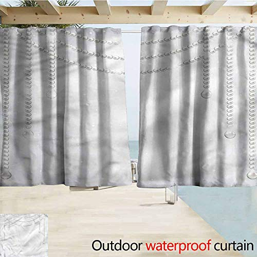 MaryMunger Indoor/Outdoor Top Curtain Pearls Necklace Figures Wedding Outdoor Privacy Porch Curtains W72x63L Inches
