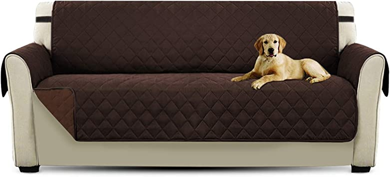 Petcute Sofaschoner Hund 3 Sitzer Sofabezuge Sofauberzug Sofa Schutz Abdeckung Sofauberwurf Braun Amazon De Haustier