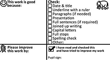 Literacy marking checklist and feedback teacher self inking stamp literacy marking checklist and feedback teacher self inking stamp key stage 23 large expocarfo Image collections