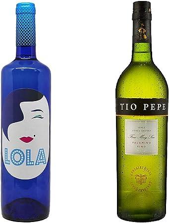 Lola Blanco Semidulce y Tío Pepe - D. O. Campo de Borja y D. O. Jerez-Xérès-Sherry - 2 botellas de 750 ml