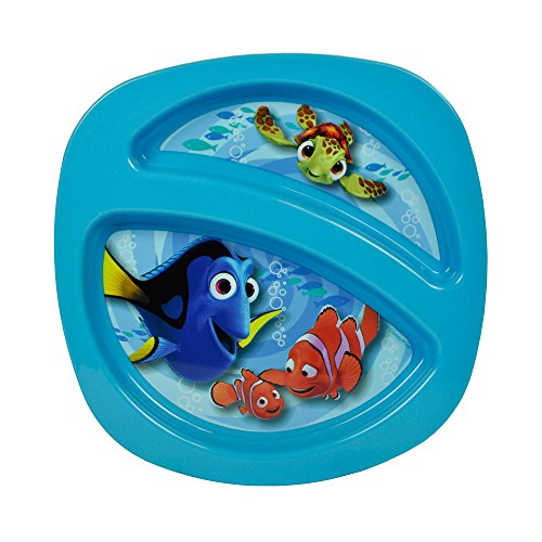 (Disney/Pixar Finding Nemo Sectioned Plate, Colors May Vary)
