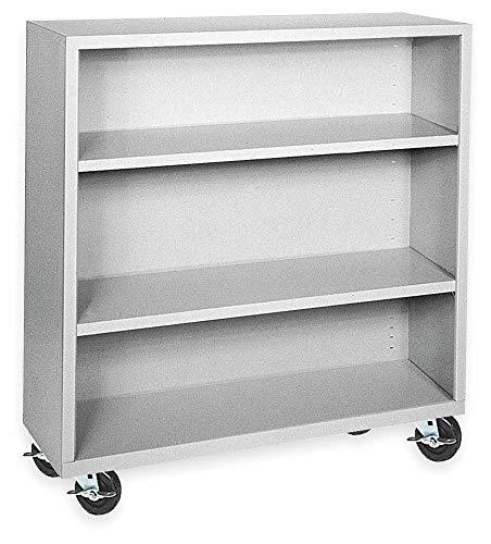 - 46' x 18' x 48' Elite Series Mobile Bookcase with 3 Shelves, Dove Gray