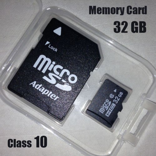 32GB Micro SDHC TF Memory Card Class 10 w/ SD Adapter For
