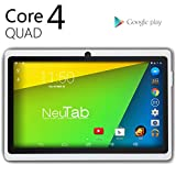 NeuTab 7'' Quad Core Google Android 4.4 KitKat Tablet (White)