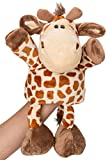 "Flexibuy 12"" Giraffe Full Body Hand Puppet, Cute Stuffed Giraffe Toys for Boys Girls Babies Toddlers"