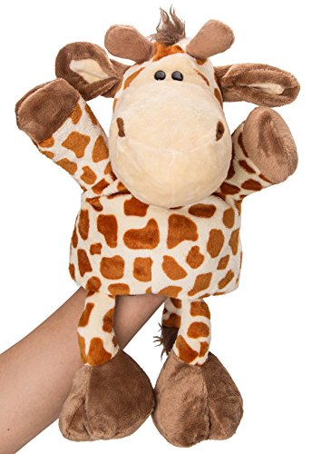 "Flexibuy 12"" Giraffe Full Body Hand Puppet, Cute Stuffed Giraffe Toys for Boys Girls Babies Toddlers"