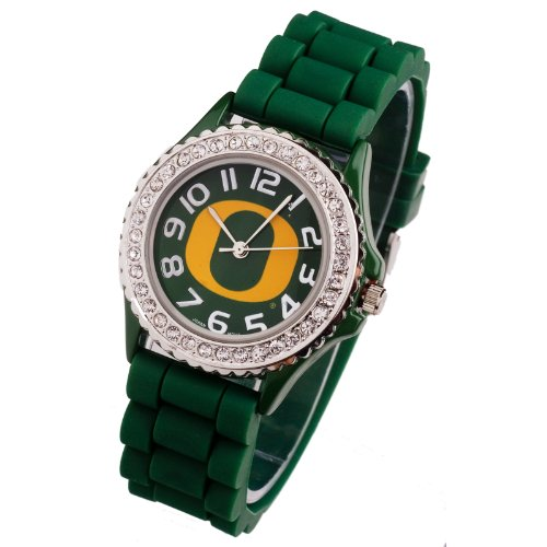 OREGON DUCKS WATCH-UNIVERSITY OF OREGON LADIES JELLY WATCH (College Oregon Ducks Watches)