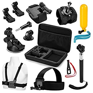 Review XP Premium Action Camera Accessory Kit - Professional Action Photography Bundle + Large Carrying Case & Assorted Strap Mounts & Tools for GoPro Hero 5/4/3/2/1 SJ4000 SJ5000 SJ6000