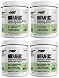 GAT Nitraflex Pre Workout 300mg, 4 PACKS (GreenApple)