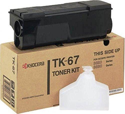 Kyocera 370QD0KM Model TK-67 Black Toner Kit for Ecosys FS1920/FS3820/FS3820N/FS3830N, Genuine Kyocera, Up To 20000 Pages Yield