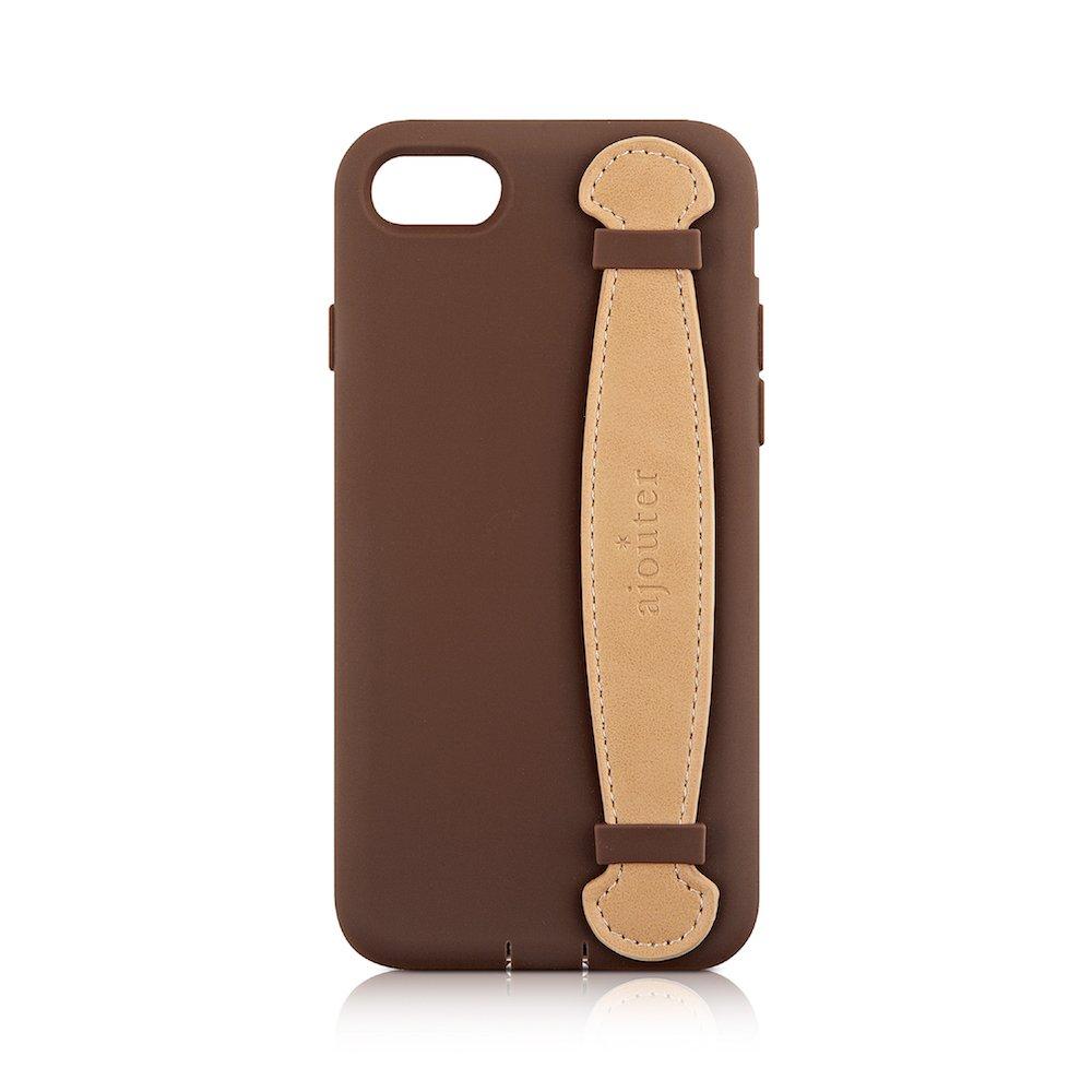 Simplism iPhone 7 [Handie] 衝撃吸収バンドシリコンケース ブラウン TRA-HNIP164-BR