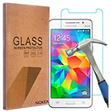 Samsung Galaxy Grand Prime Screen Protector, NOKEA [Tempered Glass] with [9H Hardness] [Crystal Clear] [Easy Bubble-Free Installation] [Scratch Resist] (for Galaxy Grand Prime)