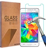galaxy ace 2 screen protector - Samsung Galaxy Grand Prime Screen Protector, NOKEA [Tempered Glass] with [9H Hardness] [Crystal Clear] [Easy Bubble-Free Installation] [Scratch Resist] (for Galaxy Grand Prime)