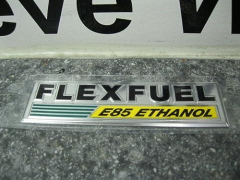 CHRYSLER DODGE JEEP FLEX FUEL E85 ETHANOL EMBLEM DECAL NAMEPLATE BADGE MOPAR OEM - E85 Flex Fuel
