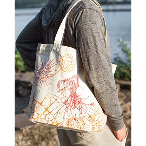 Cognitive Surplus Microbiology Microscopic Life illustration Tote Bag. (Recycled Cotton)