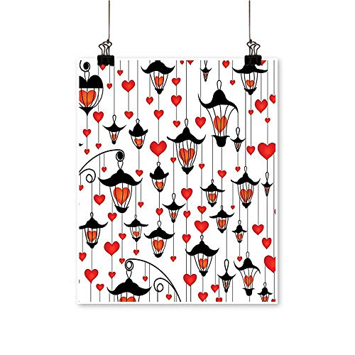"Modern Painting Lanterns and Heart for Valentines Day Small Lamp Decorative Classic Antique Artwork for Home Decorations,28""W x 52""L/1pc(Frameless) from painting-home"