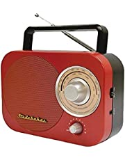 Studebaker Portable Am/FM Radio in Red Stud-Sb2000