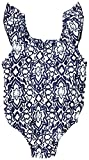 Egg By Susan Lazar Baby Ruffle One Piece Swimsuit, Navy Print, 6MO