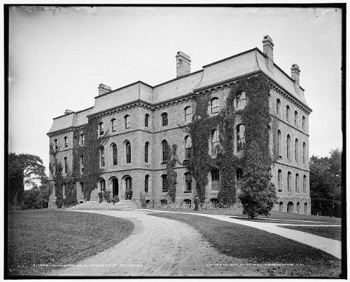 Photo: Anderson Hall,University,Rochester,educational facilities,New York,NY,c1904
