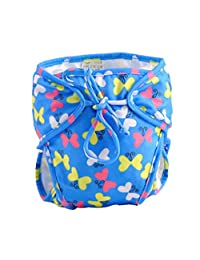 Stylish Infant Swim Diaper with Ties, Size Medium, [Butterfly] Adjustable