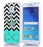 S6 Case, Samsung Galaxy S6 Case chevron anchor live the life you love quotes christian quotes