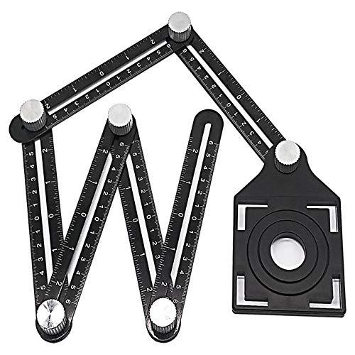 Alwayswe Universal Angularizer Ruler Measuring Tool Template Black Amenitee Full Metal