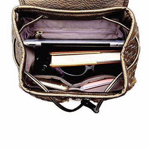 Fashion PU Lederrucksack Mode Damen Rucksack Damen Leder Damentasche Cityrucksack Stadtrucksack Schultertaschen Schultasche-S Beige MjYsnmd