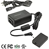 Kapaxen ACK-E10 (UL Listed) AC Power Adapter Kit For Canon EOS Rebel T3, T5 and T6 Cameras