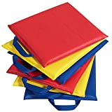 Children's Factory Kids Classroom Preschool 12'' Primary Sit-Upons - Set of 6