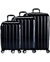 Delsey Luggage Helium Aero 3 Piece Spinner Luggage Set