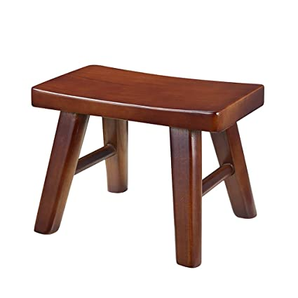 Remarkable Amazon Com Ajzgf Solid Wood Small Bench Change Shoes Stool Theyellowbook Wood Chair Design Ideas Theyellowbookinfo