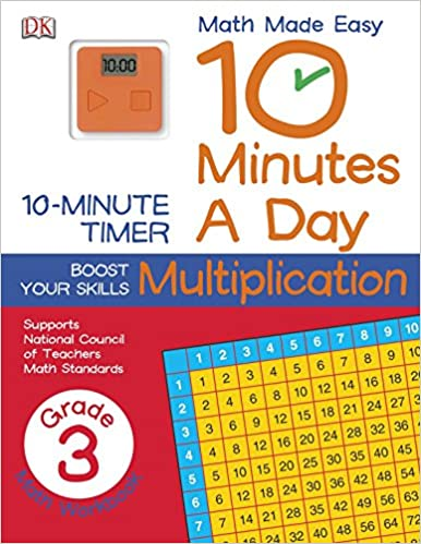 10 Minutes A Day Multiplication Third Grade Supports National Council Of Teachers Math Standards Math Made Easy Paperback December 23 2013