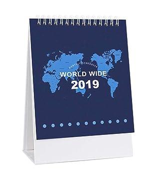 Mapa del mundo patrón 2019 de pie Calendario de escritorio ...