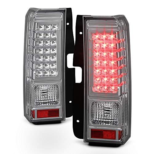 ACANII - For 2006-2010 Hummer H3 SUV Chrome LED Strip Rear Tail Lights Brake Lamps Left+Right