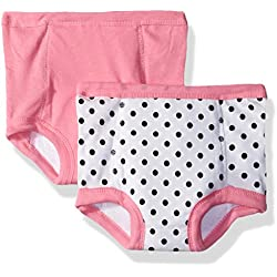 Gerber Toddler Girls' 2 Pack Terry Lined Training Pants, Elephants/Flowers, 2T/3T