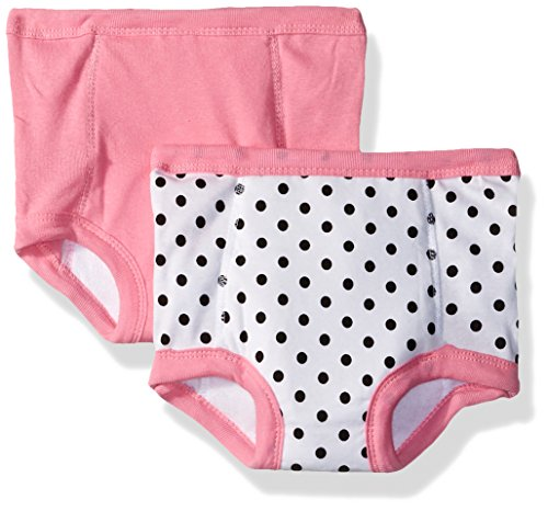 Gerber Toddler Girls' 2 Pack Terry Lined Training Pants, Elephants/Flowers, 2T/3T - Lined Training