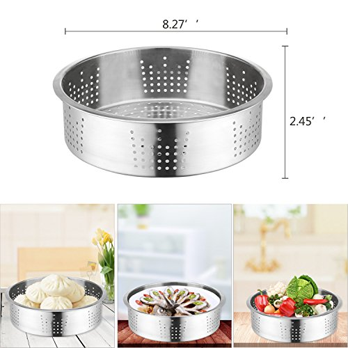 6 PACKS Instant Pot Accessories Steamer Basket Steamer Sets Steamer Base Springform Pan Egg Steamer Rack Silicone Oven Mitts Plate Dish Clip for Pressure Cooker Cooking Pot Steamer Pot Pan 4 5 6 8 qt by STEAMER-6 (Image #1)