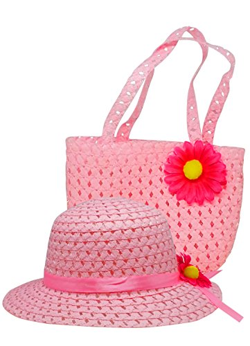 Easter Hat And Purse - Gift For Little Girl (Pink)